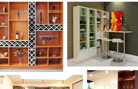家用餐厅酒柜鞋柜一体组合装修效果图